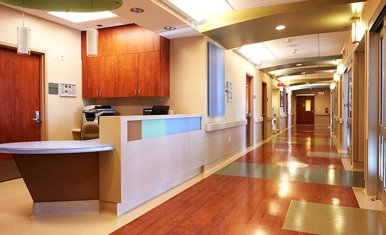 Janitorial Cleaning Services - Clean reception area